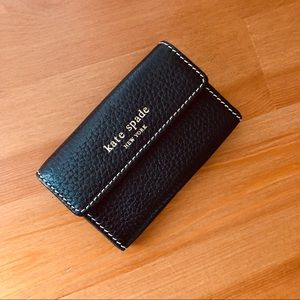 Kate Spade New York Black Leather Compact Wallet